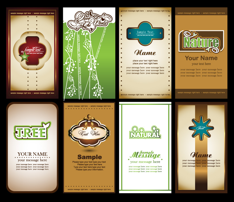Notes cards vector