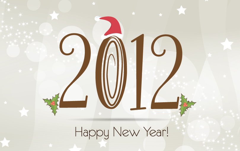 2012 Christmas Fonts Vector