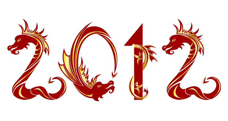 2012 Dragon Year Creative Design Vector