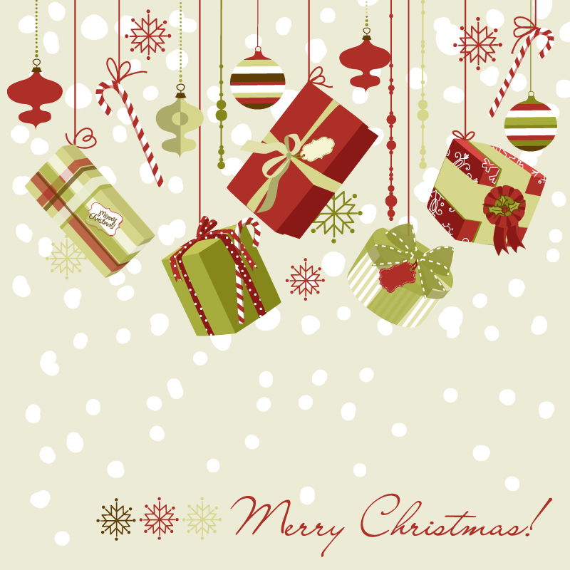 Beautiful Christmas Designs Vector