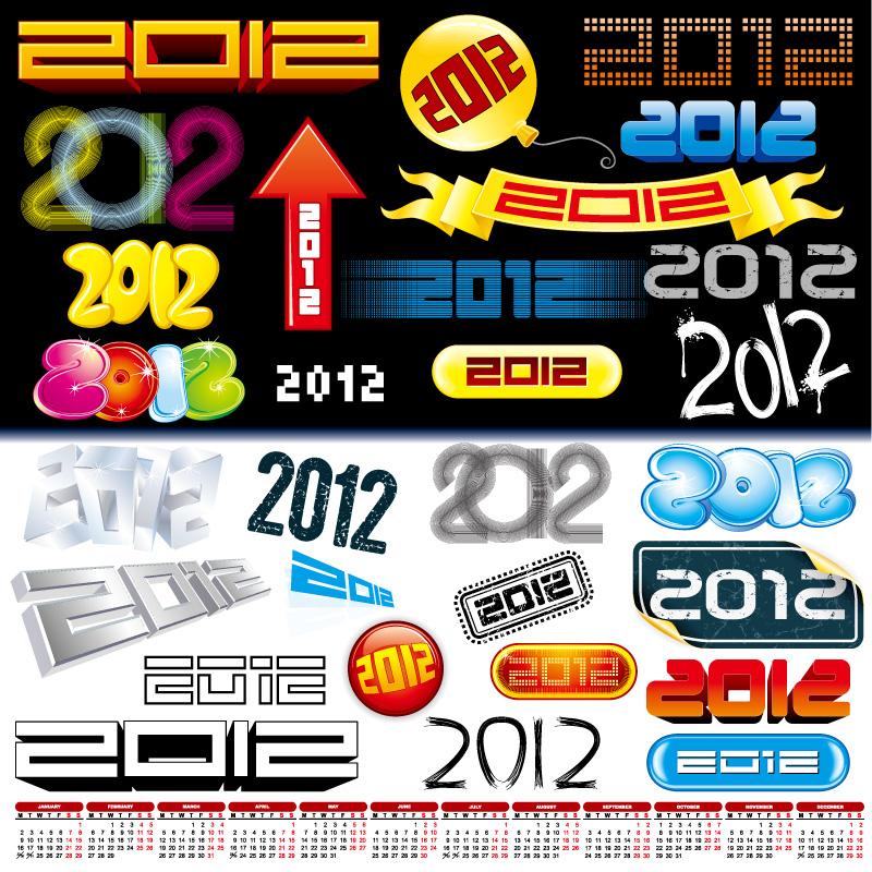 Font Design 2012 Vector