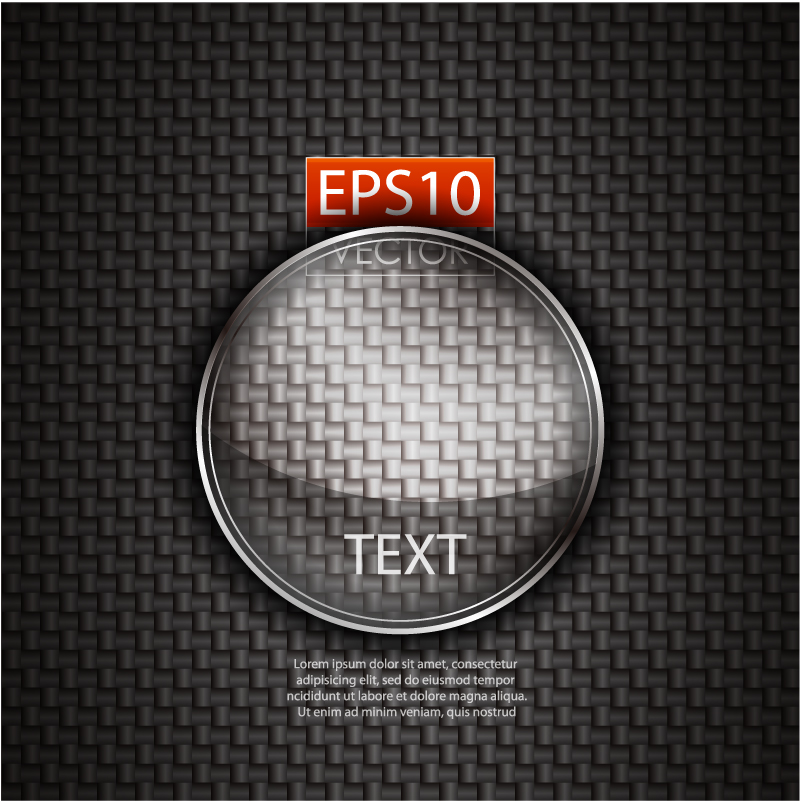 Glass Texture Stickers Vector