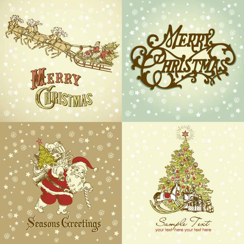Gorgeous Christmas Designs Vector