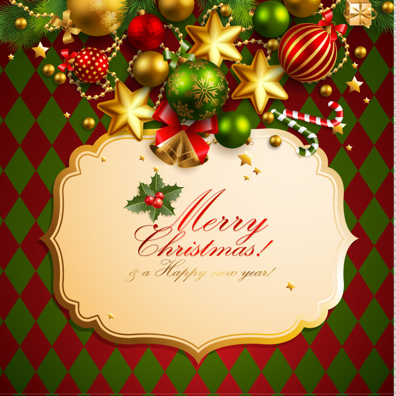 Christmas Elements Background 4 Vector