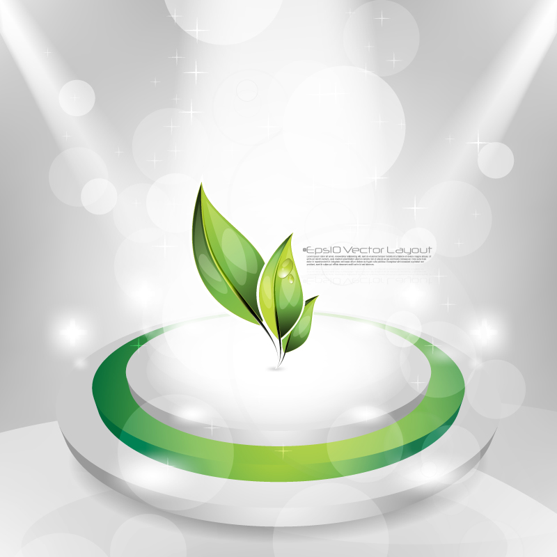 Dynamic Gorgeous Green Background 3 Vector