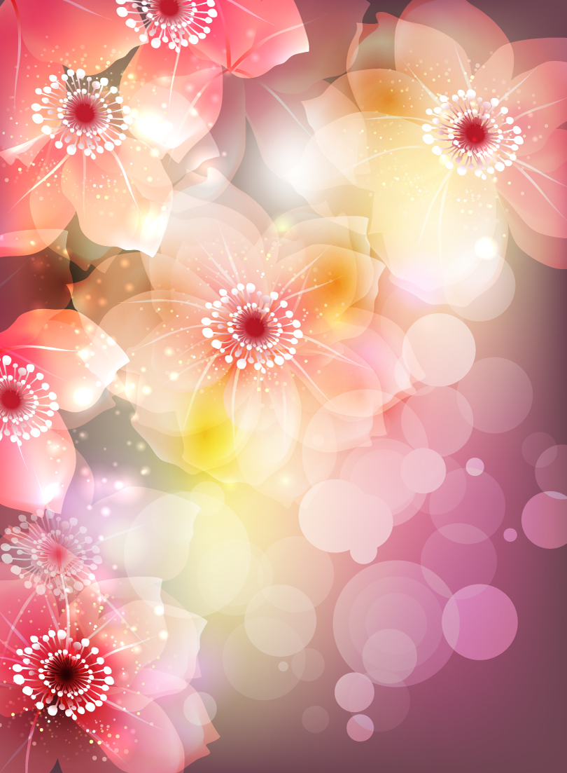 Gorgeous Flowers Illustration Vector