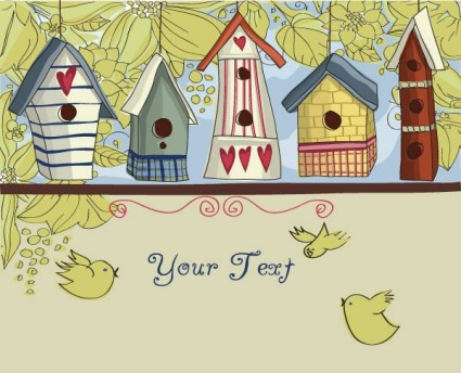 Lovely house free vector graphic download for Longhouse birdhouse