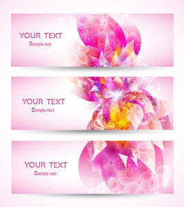 Beautiful Colorful Flowers Banner 3