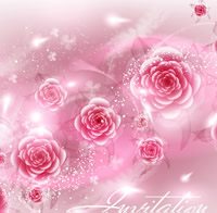 Bright Roses Card Design 1