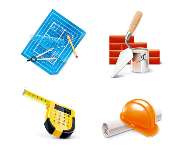 construction tools icon free vector graphic download