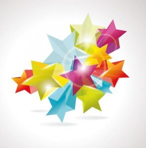 Dynamic Five-pointed Star