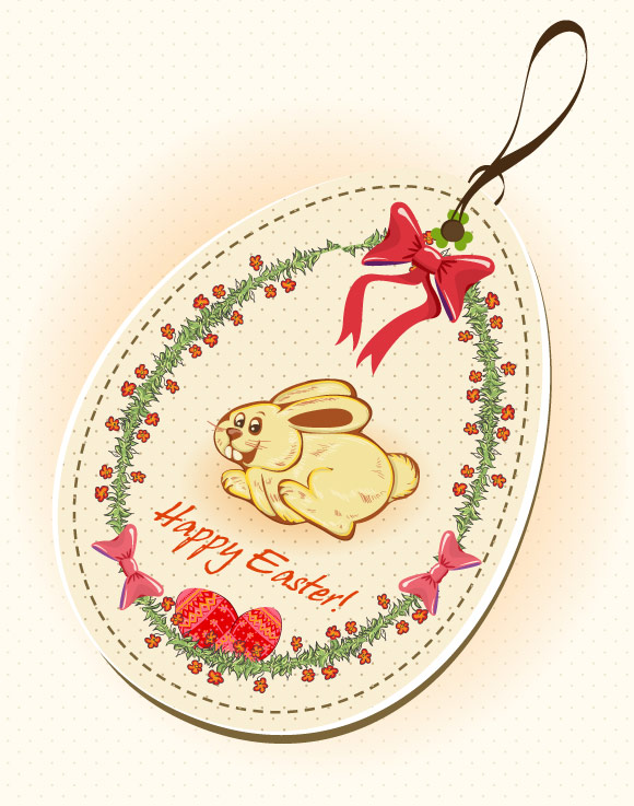 Easter Shopping Tag Illustration