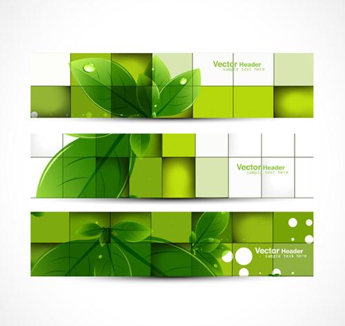 Green Leafy Banner 2