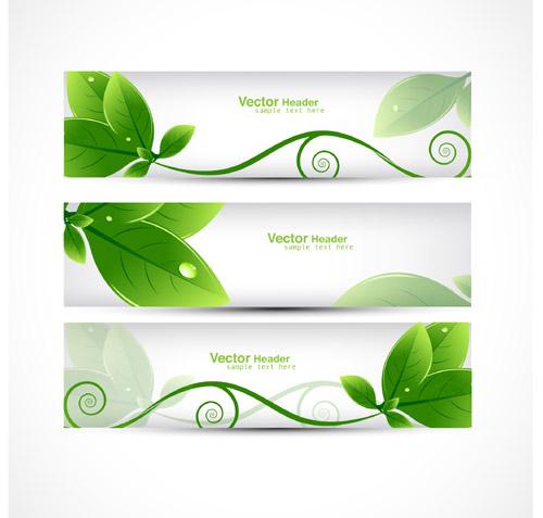 Green Leafy Banner