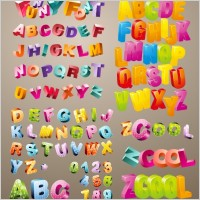 Three Dimensional Cute Letters
