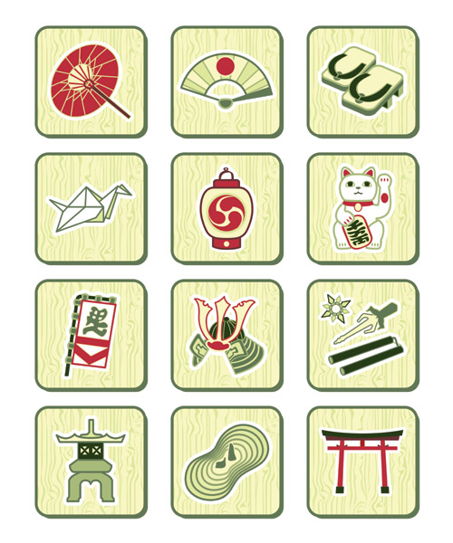 Traditional Chinese Symbols Free Vector Graphic Download