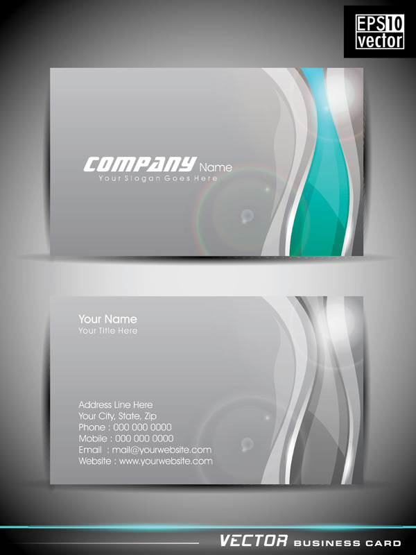 Business card 4 free vector graphic download business card set 100 4 reheart Images