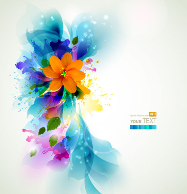 Colorful Flowers Background 2