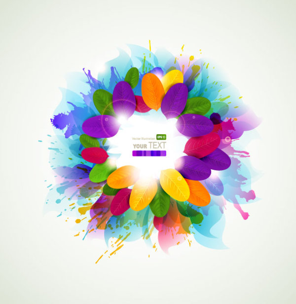 Colorful Flowers Background 3