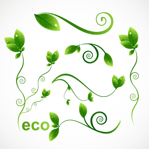 Ecological Green leafy Pattern