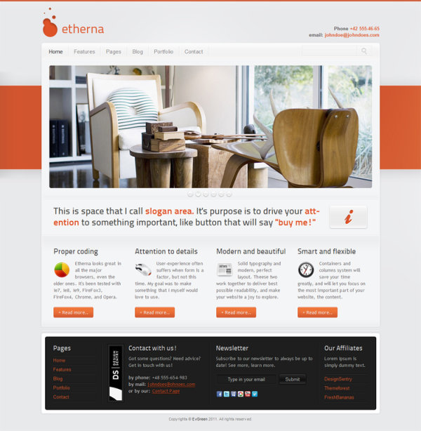 Etherna Wordpress Style Template