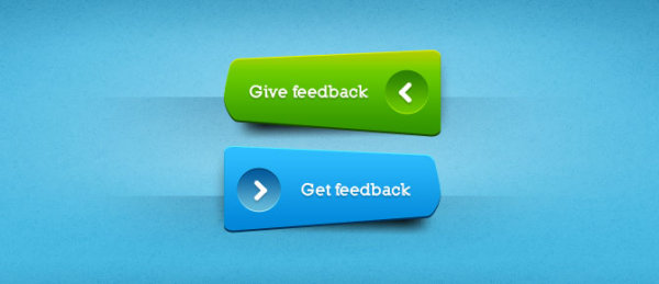 Green Blue Clear Buttons