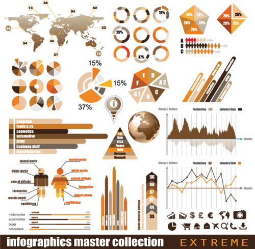 Infographics and chart design elements 2