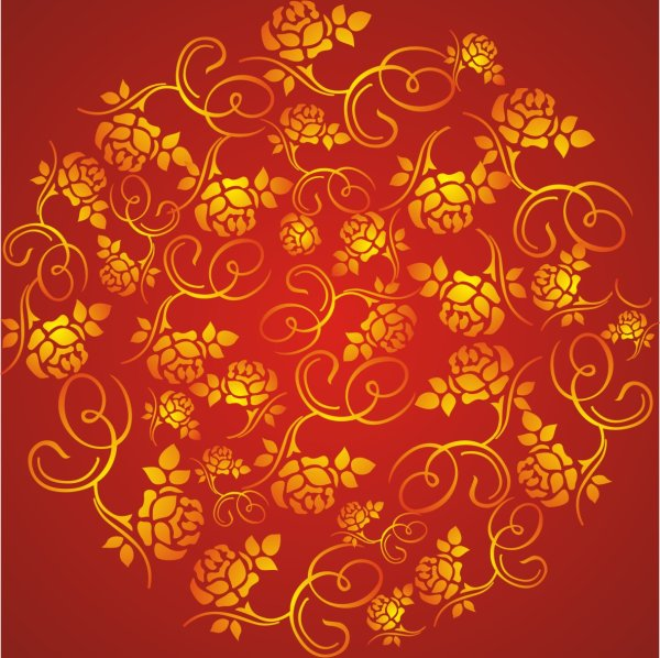 Red rose pattern background