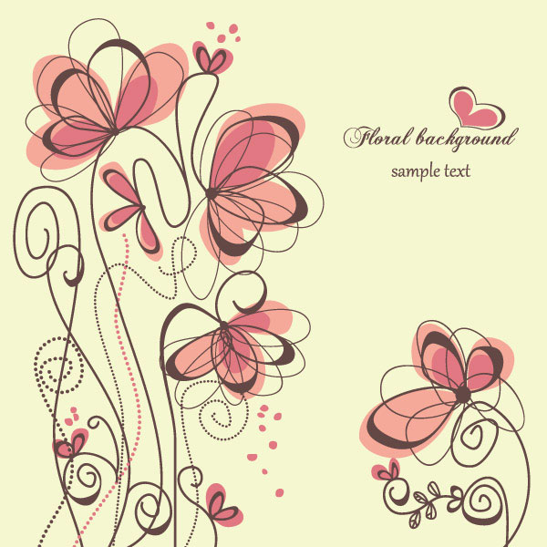 Romantic floral background 2