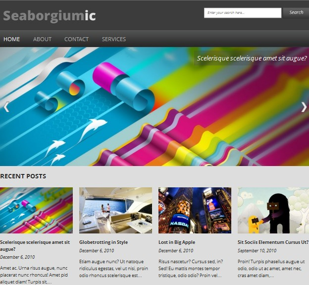 Seaborgiumic Wordpress Theme
