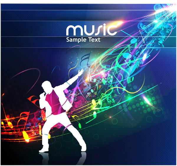 Silhouettes Music Background 2
