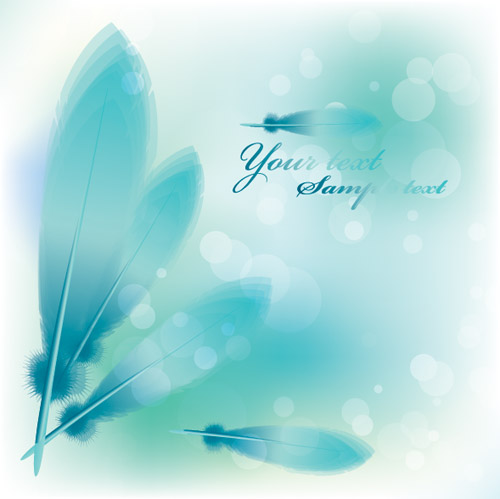 Elegant Feather Decoration Background 2