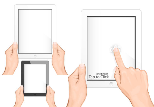 PAD Tablet Gestures