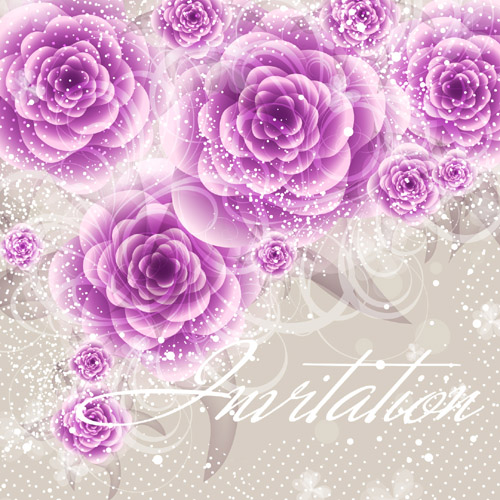 Exquisite Flowers Patterns Background