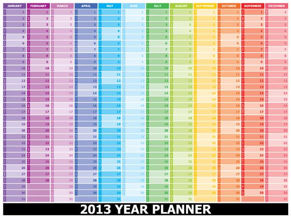 Planner Download 2013 2013 Year Planner