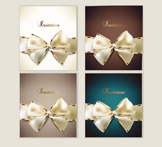 Bow Invitation Card 2