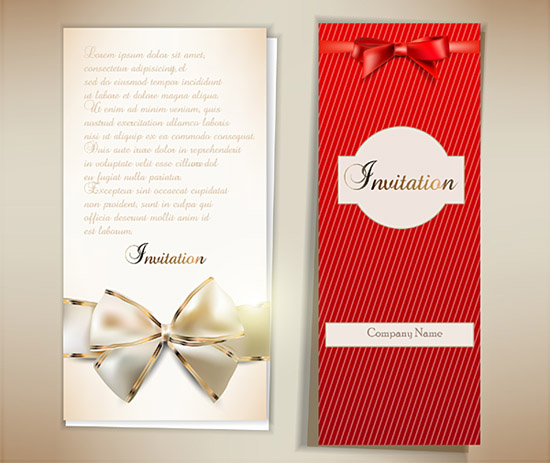 Bow Invitation Card 3