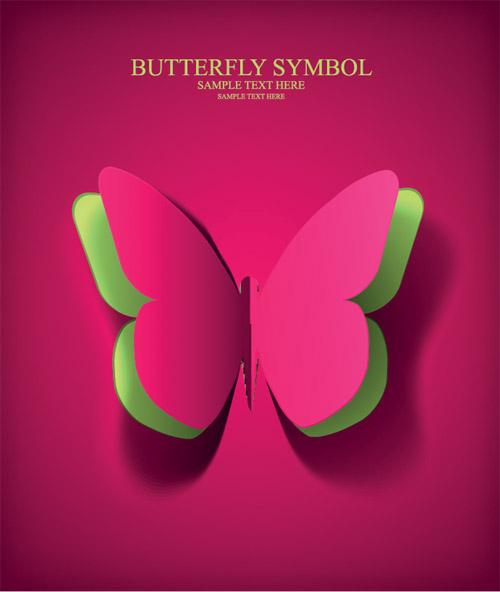 Butterfly from Paper Vector