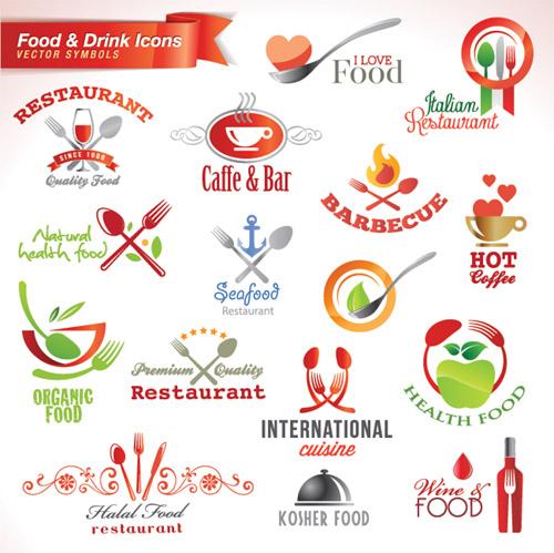 Food & Drink Icons vector symbols