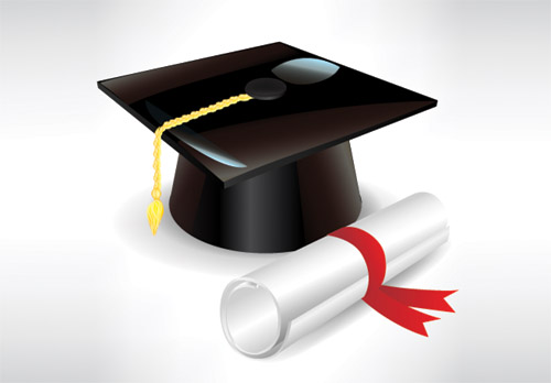 Graduation cap and diploma 2