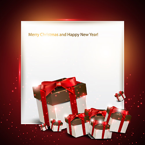 merry christmas and happy new year free vector graphic download