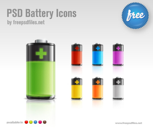 PSD Battery Icons