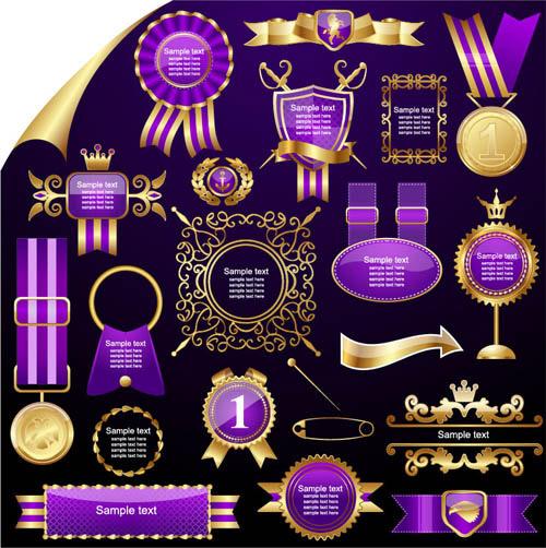Purple Classic Labels