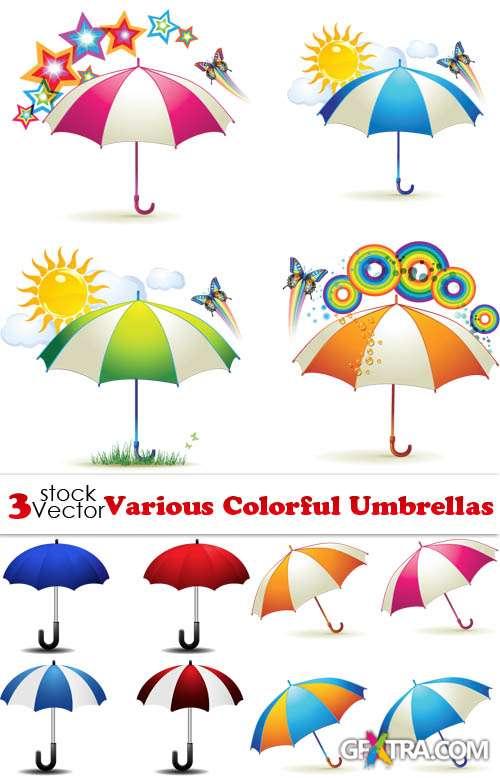 Various Colorful Umbrellas