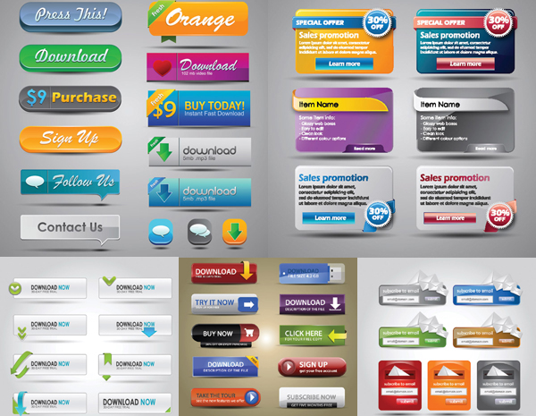 Web Decorative Buttons And Modules