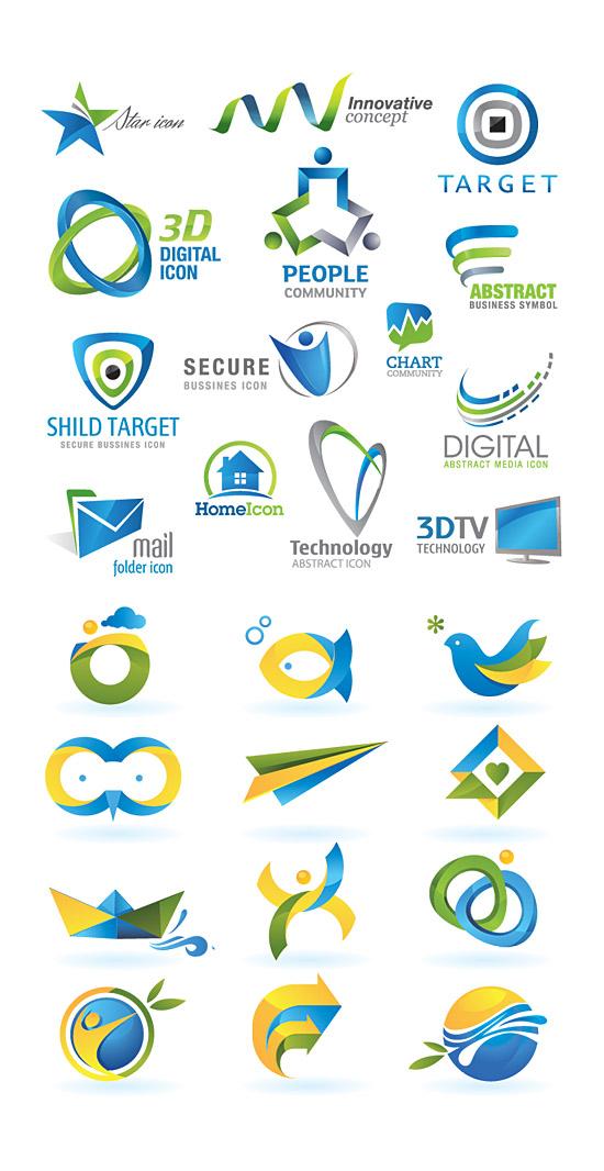 3D Colorful Logo