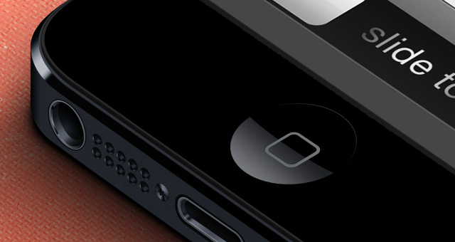 3D iPhone 5 Psd 2