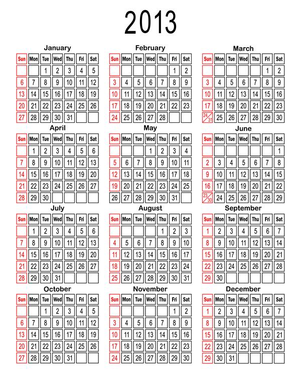 Calendar 2013 27