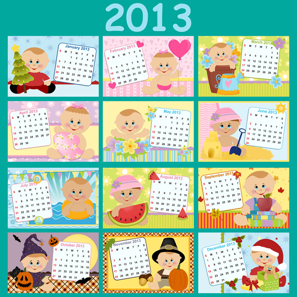 Calendar grid 2013 2