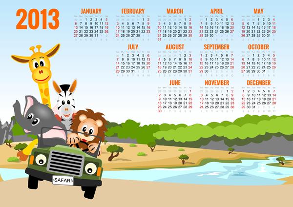Calendar grid 2013 3